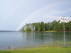 Beautiful Rainbow over Lake Martin